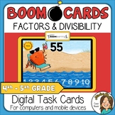 Finding Factors and Divisibility Boom Cards Distance Learning