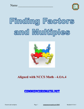 Finding Factors and Multiples - 4.OA.4
