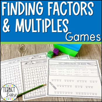 Finding Factors and Multiples Math Games