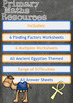 Finding Factors and Multiples Worksheets - Ancient Egyptian Themed