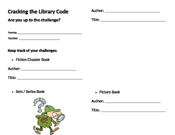 Finding Fiction Books in the Library Activity