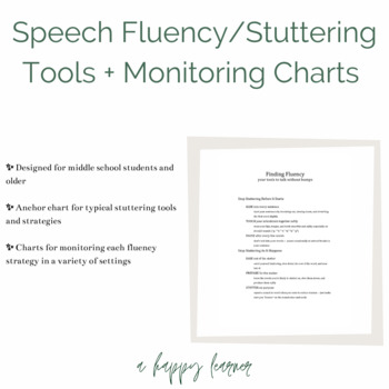 Speech Therapy Fluency (Stuttering) Tools for Older Students
