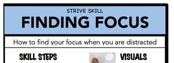 Finding Focus Social Skill Steps Poster - The Empower Program K-2