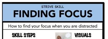 Finding Focus Social Skill Steps Poster - The Empower Program K-2
