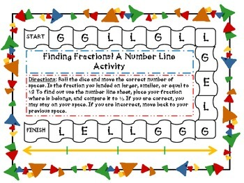 Finding Fractions! Fractions on a Number Line Game