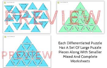Fractions of Amounts Activity: Tarsia Puzzles