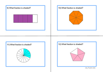 Finding Fractions Task Cards