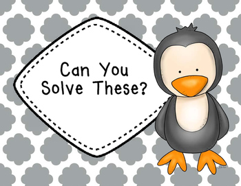 Finding Fractions of a Set {Penguin Theme}