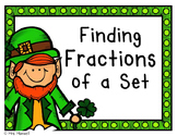 Finding Fractions of a Set_St. Patrick's Day Theme with Le