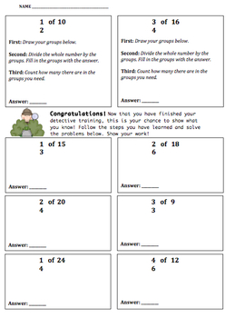 Finding Fractions of a Whole Number Tiered Intro and Practice (Pack A)