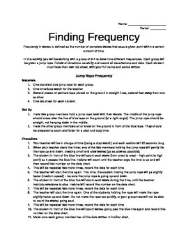 Finding Frequency of Waves Activity