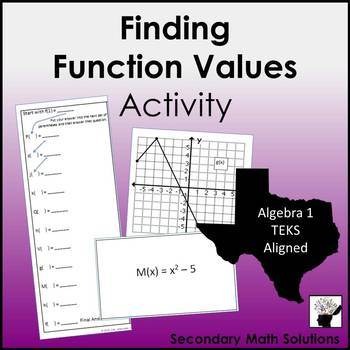 Finding Function Values in Function Notation Activity (A12B)