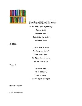 Finding GREAT Books! Song