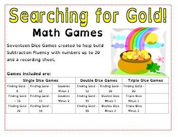 Finding Gold - Take Away Math Games