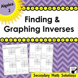 Finding & Graphing Inverses Practice (2A.2B, 2A.2C)