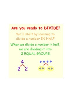 Finding Half a Number, Simple Division SmartBoard Lesson