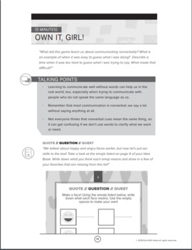 Finding Her Voice Activity Guide - Help Girls Learn to Speak Up