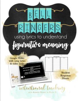 Middle School ELA Bellringer: Decoding Lyrics to Understand Figurative Language