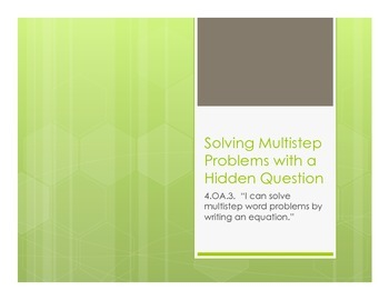 Finding Hidden Questions in Multi-Step Word Problems