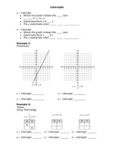 Finding Intercepts in Linear Functions