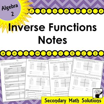 Finding Inverses Notes (2A.2B, 2A.2C)