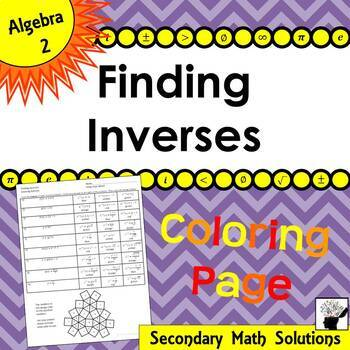 Finding Inverses Coloring Activity (2A.2B)