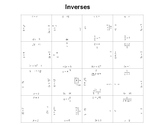 Finding Inverses Square Puzzle Activity