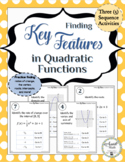 Finding Key Features in Quadratic Functions Activity