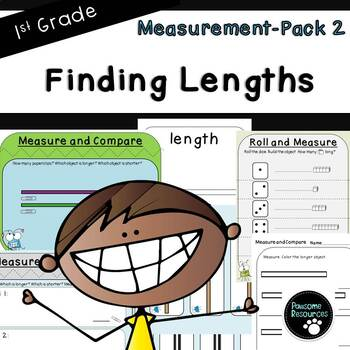 Finding Lengths-Measurement Pack 2 (First Grade, 1.MD.2)