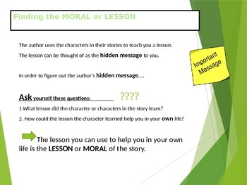 Finding Lesson of Fables Mini Lesson RL3.2