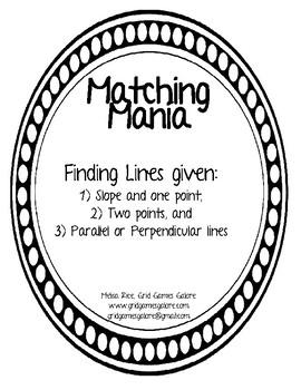 Finding Lines MatchingMania