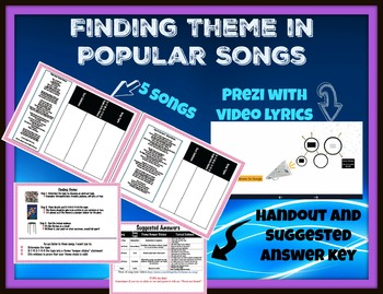 Finding Literary Theme in Popular Songs