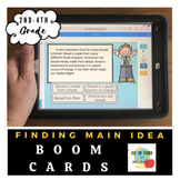 Finding Main Idea- Boom Cards- Distance Learning