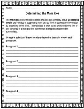 Finding Main Idea & Supporting Details