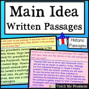 Finding Main Idea in Passages Relating to Presidents and History