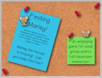 Finding Marley!  Kindergarten Skill Recognition Game