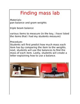 Finding Mass Lab