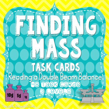 Finding Mass - Reading a Double Beam Balance Task Card Set