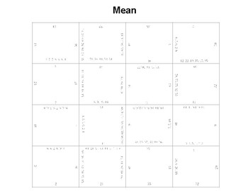 Finding Mean Fun Square Puzzle