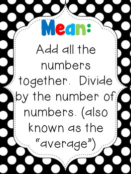 Finding Mean, Median, Mode, and Range