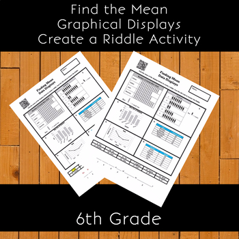 Finding Mean from Graphical Displays Create a Riddle Activity