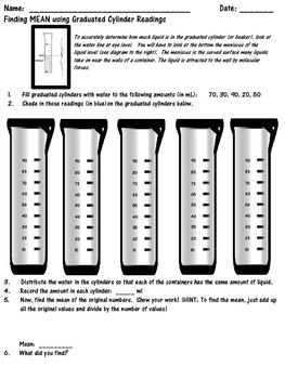 Finding Mean in a Concrete Manner Using Graduated Cylinders