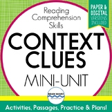 Context Clues Passages, Worksheets and Graphic Organizers for Meaning in Context