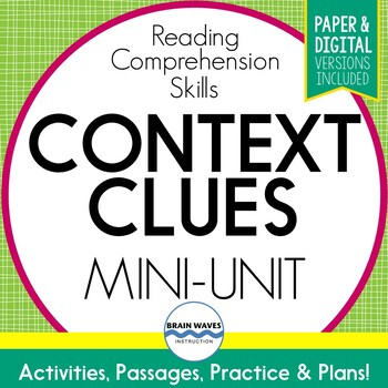 Context Clues Passages, Worksheets, Graphic Organizers Word Meaning in Context