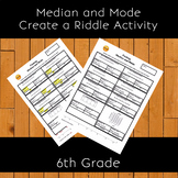 Finding Median and Mode Create a Riddle Activity