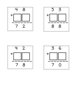 Finding Missing Addends - 2-digit