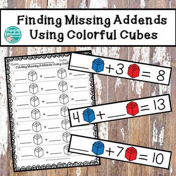 Finding Missing Addends Using Blue and Red Colorful Cubes