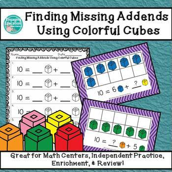Finding Missing Addends Using Colorful Cubes