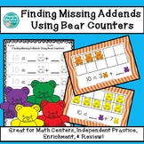 Finding Missing Addends Using Colorful Teddy Bear Counters