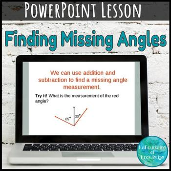 Finding Missing Angle Measure PowerPoint